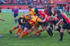 Maul dans le rugby photo stock