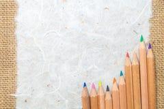Maulbeerepapier auf Sackbeschaffenheit Lizenzfreie Stockfotografie