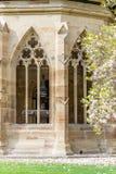 Maulbronn, Deutschland - 14. April 2017: Kloster Maulbronn von herein Lizenzfreie Stockfotografie
