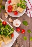 Maultaschen - swabian filled pasta  ravioli . royalty free stock images