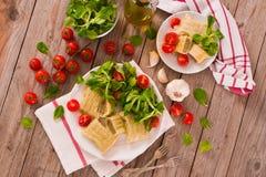 Maultaschen - swabian filled pasta  ravioli . royalty free stock image