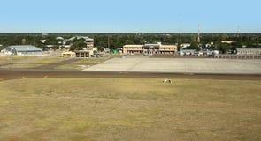 Maun flygplats i Botswana arkivbilder