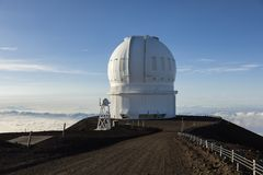 Mauna Kea Canada-France-Hawaii Telescope CFHT, stor ö, Hawaii Arkivbild