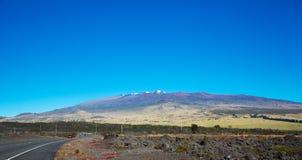 Mauna Kea et crêtes recouvertes par neige Photo libre de droits