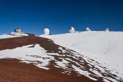 Mauna Kea Hawaii observatories Stock Image