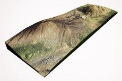 Mauna Kea and Mauna Loa volcano in Hawaii Stock Image