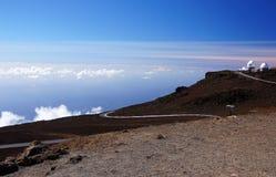 Mauna-Kea-observatorier Hawaii, USA Arkivfoton
