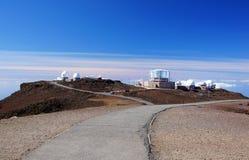 Mauna-Kea-observatorier Hawaii, USA Royaltyfri Bild