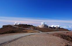 Mauna-Kea-observatorier Hawaii, USA Royaltyfri Fotografi