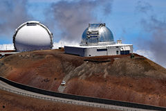 Mauna Kea observatorier, stor ö, Hawaii Arkivfoton