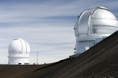 Mauna Kea Observatories Royalty Free Stock Images