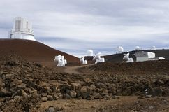 Mauna Kea Observatories Royalty Free Stock Photos