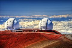 Mauna Kea Observatories Hawaii Royalty Free Stock Images