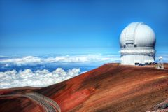 Mauna Kea Observatories Hawaii Royalty Free Stock Photos