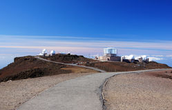 Mauna-Kea-Observatories, Hawaii, USA Royalty Free Stock Image