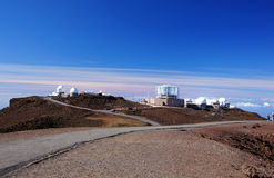 Mauna-Kea-Observatories, Hawaii, USA Royalty Free Stock Photography