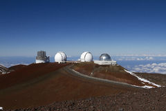 Mauna Kea Observatory Royalty Free Stock Photos