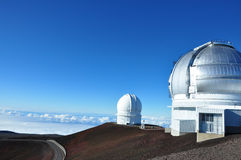 Mauna Kea Observatory, Big Island, Hawaii Royalty Free Stock Photo
