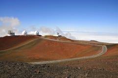 Mauna Kea Observatory, Hawaii. Four telescopes of Mauna Kea Observatory, Hawaii Stock Image
