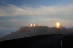 Mauna-Kea-Observatory, Hawaii, USA Royalty Free Stock Photos