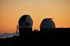 Mauna Kea Observatory at sunset, Maui-Hawaii (USA) Stock Images