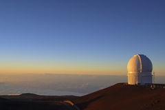 Mauna Kea på solnedgången Fotografering för Bildbyråer