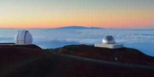 Mauna Kea schiebt auf der großen Insel von Hawaii ineinander Stockbild