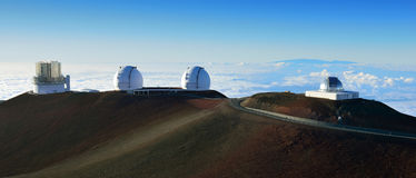 Mauna Kea se resume en la isla grande de Hawaii imágenes de archivo libres de regalías
