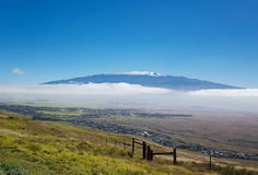 Mauna Kea and Snow capped Peaks Royalty Free Stock Image