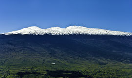 Mauna Kea Snow on Hawaii Island Stock Photo