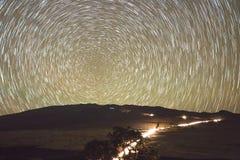 Mauna Kea Star Trails Fotografia Stock
