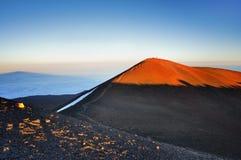 Mauna Kea. Summit of  Mauna Kea Hawaii Island at sunset Stock Image