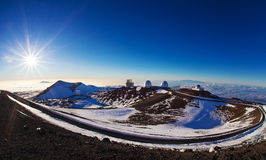 Mauna Kea summit. Telescopes on the summit of Mauna Kea, Hawaii Stock Photo