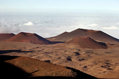 Mauna Kea summit. Telescopes on the summit of Mauna Kea, Hawaii Royalty Free Stock Photos