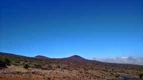 Mauna Kea Summit. A view from Mauna Keas Summit at 9000 ft. Captured in August 2017 by me on Big Island Hawaii Royalty Free Stock Photos