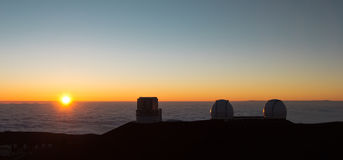 Mauna Kea sunset, Hawaii Royalty Free Stock Photos