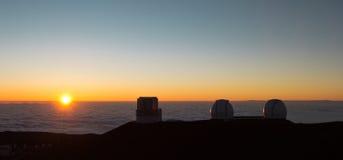 Mauna Kea zmierzch, Hawaje Zdjęcia Royalty Free