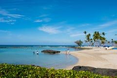 Mauna Lani Bay Big Island Hawaii Stockbilder