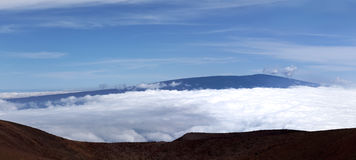 Mauna LOA visualisé de Mauna Kea Image stock