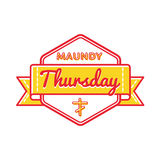 Maundy Thursday holiday greeting emblem Royalty Free Stock Image