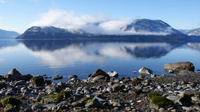 Mauntain sjö Arkivfoto