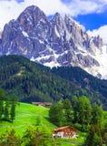 Mauntains stupefacenti delle dolomia Bellezza in natura, a nord dell'Italia Fotografia Stock