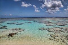 Maupiti海滩,塔希提岛,法属波利尼西亚,接近博拉博拉岛 库存照片