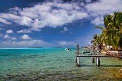 Maupiti,塔希提岛,法属波利尼西亚,接近博拉博拉岛 免版税库存图片