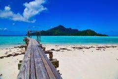 Maupiti ö, Tahiti, franska Polynesien, nästan Bora-Bora arkivfoto