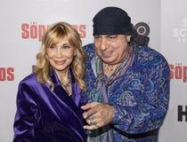 Maureen Van Zandt & Steven Van Zandt przy dyszkanta 20th Rocznicowym spotkaniem fotografia royalty free