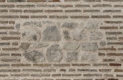 Maurerarbeit in der alten Wand Stockfoto