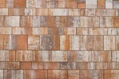 Maurerarbeit gemacht von den glatten Poliersteinplatten des Sandsteins Beschaffenheit eines Fragments einer Wand einer alten Stru Stockfotos