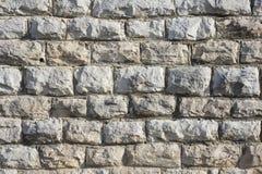 Maurerarbeit-Stein oder Backsteinmauer Stockbild