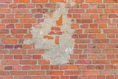 Maurerarbeit, Wand des roten Backsteins Stockfotografie